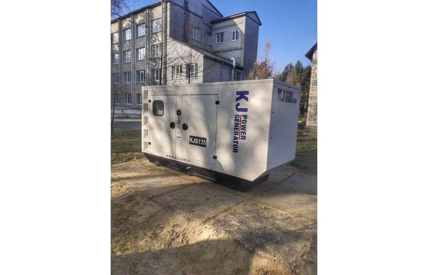 Дизельний генератор KJ Power KJS 135 для больницы.