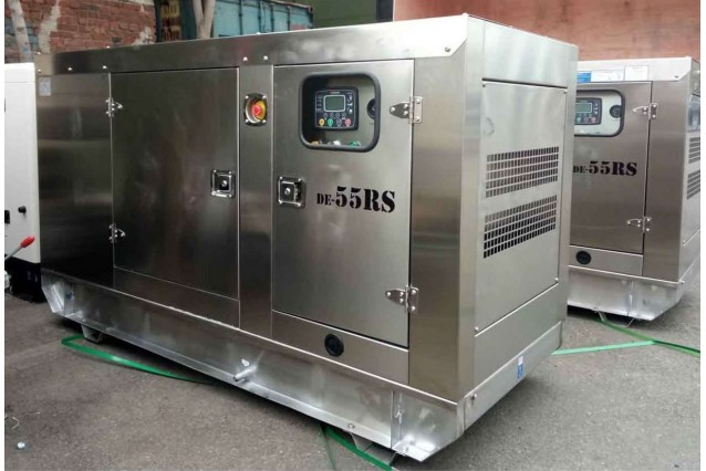 Дизельный генератор DE-55RS (нержавеющий металл)